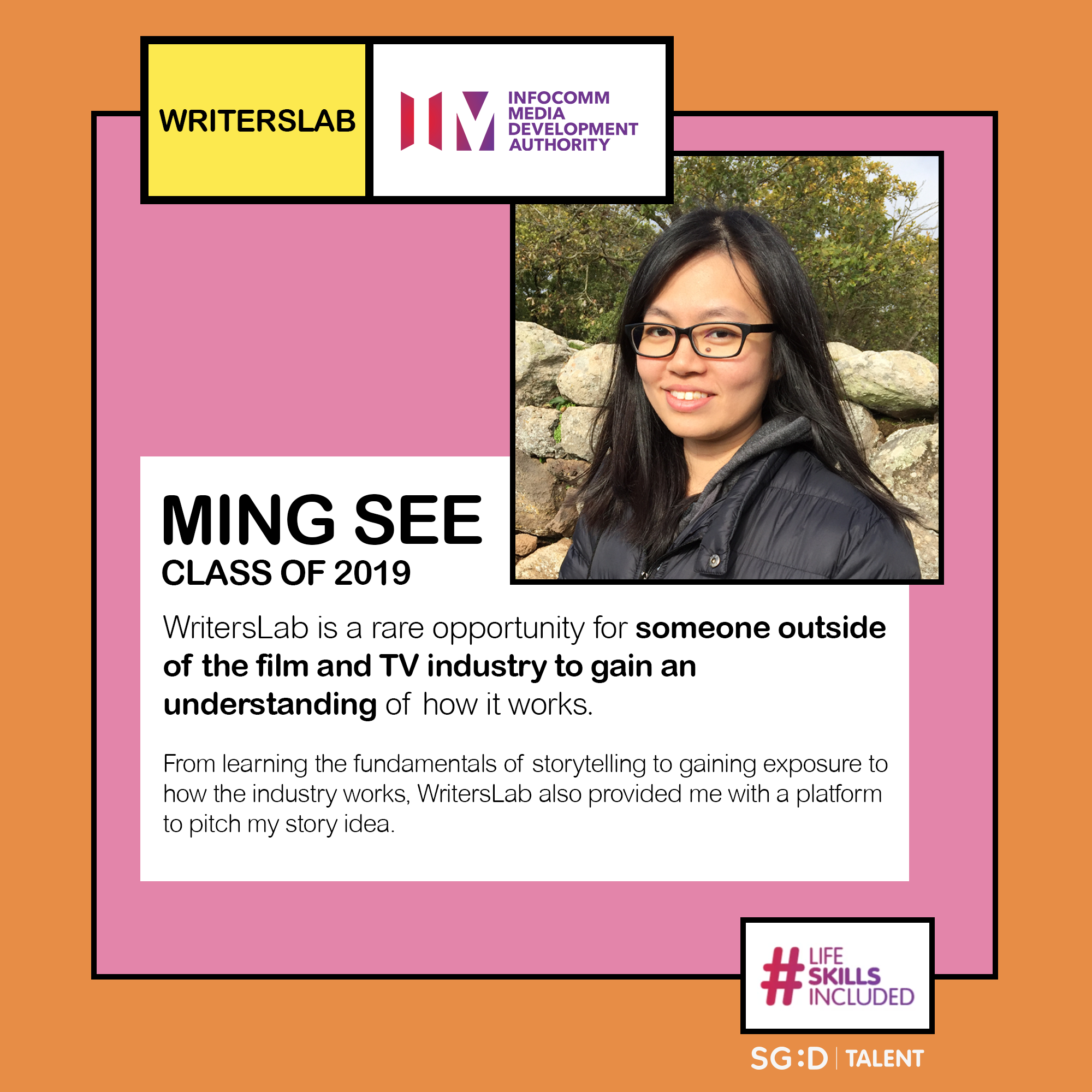 WritersLab 2019 Participant: Ming See
