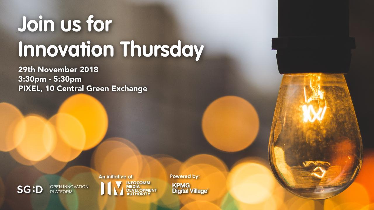 Innovation Thursday 29th Nov
