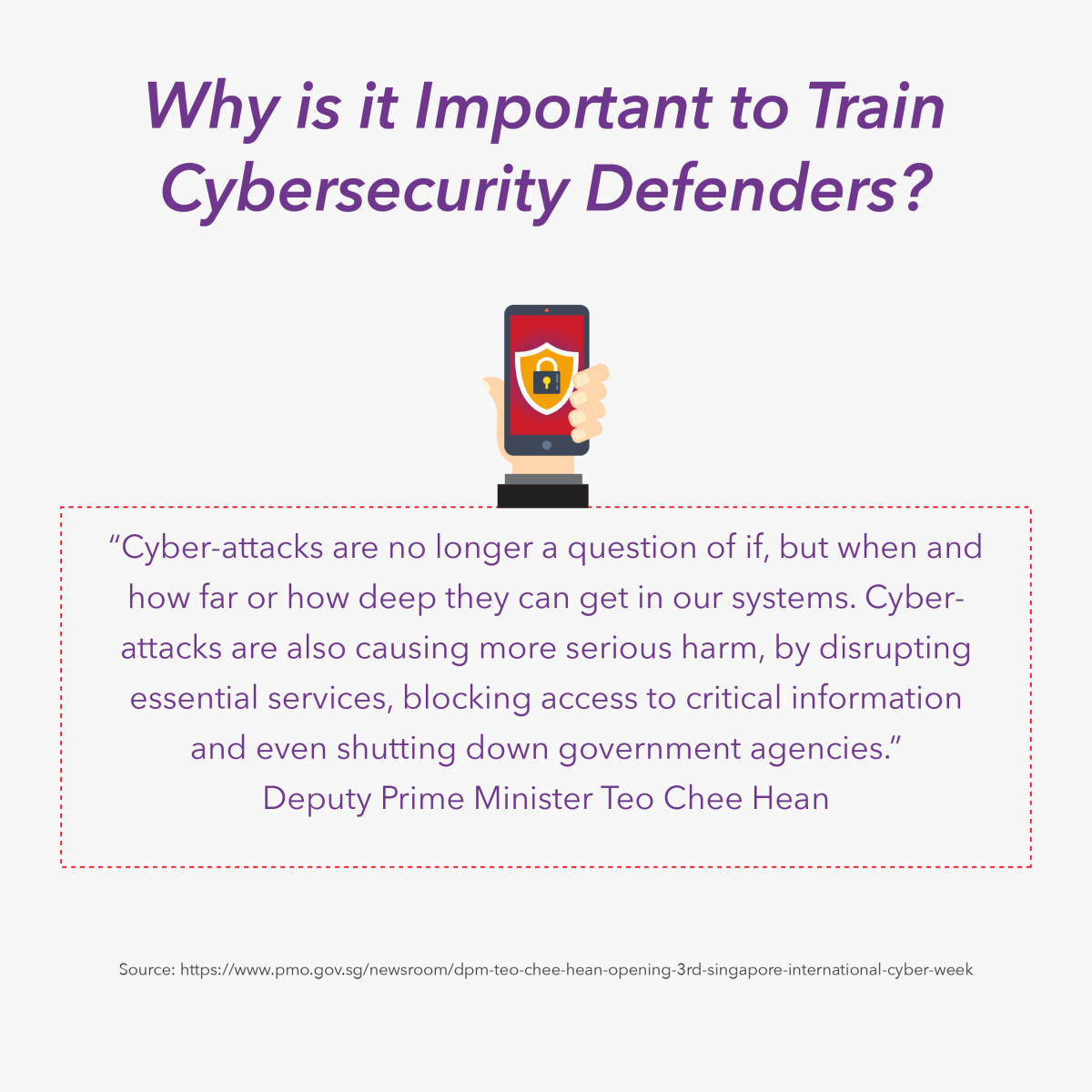 Why is it important to train cybersecurity defenders