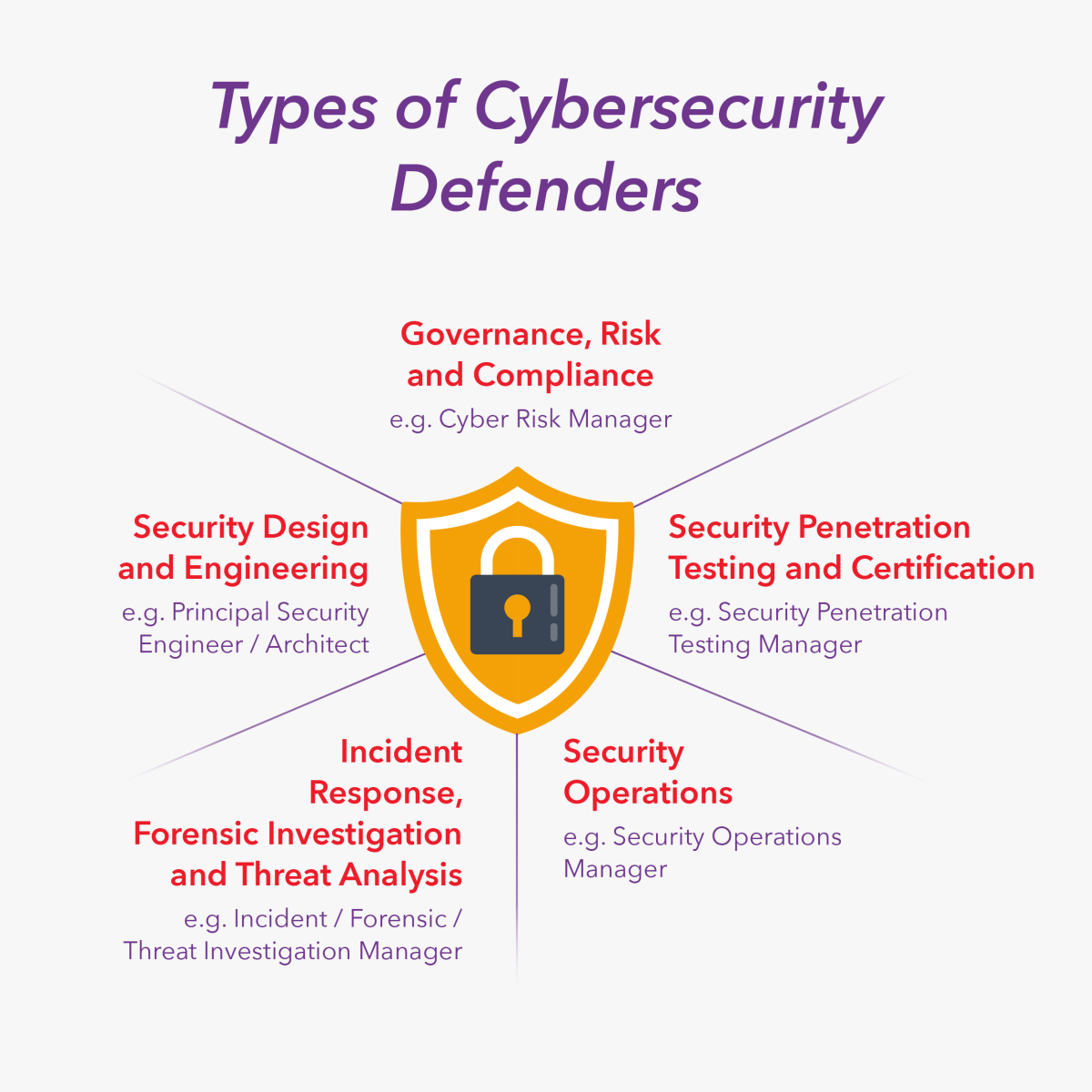 Types of Cybersecurity Defenders