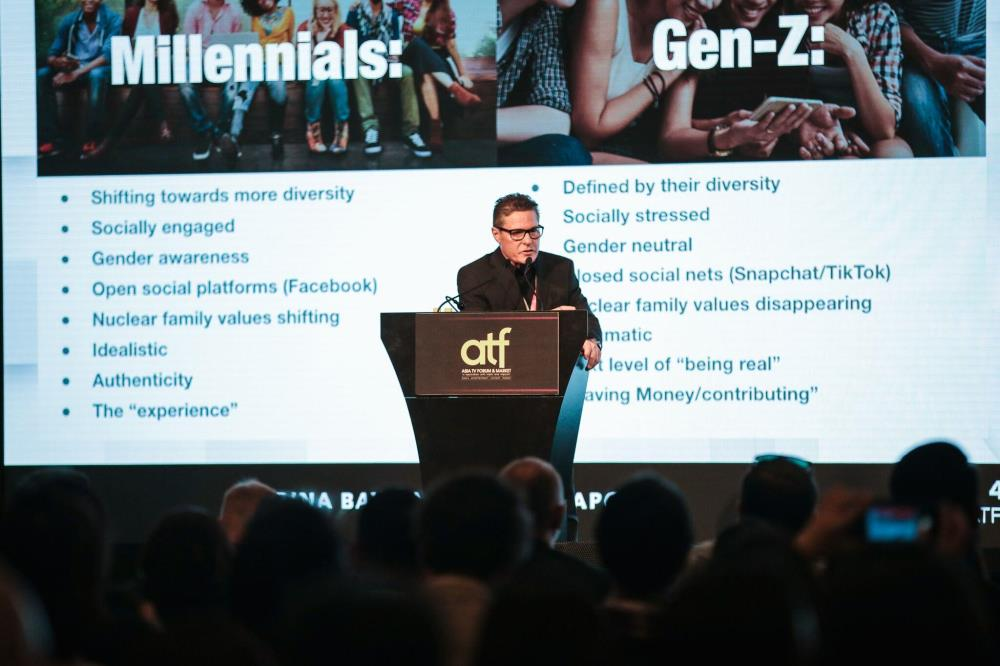 Curt Marvis during his session Capturing and Connecting to Millennial Gen Z Audiences