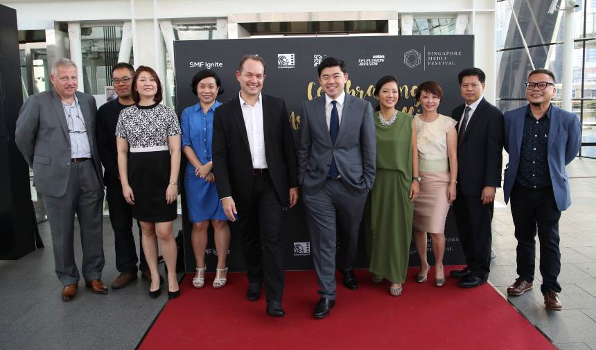 Members of the SMF Advisory Board and industry members at the Opening of the Singapore Media Festival 2016